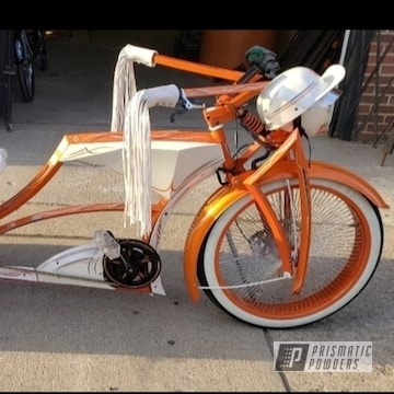 Powder Coated Orange Custom Bicycle Trike