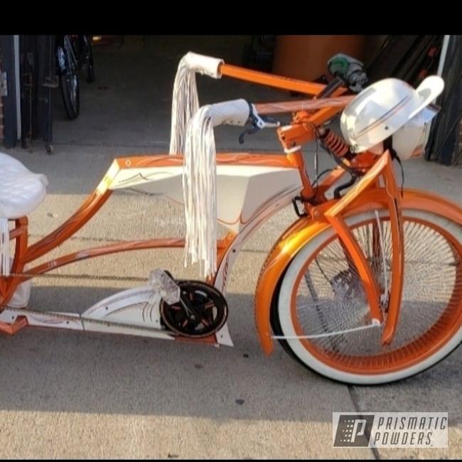 Powder Coating: Clear Vision PPS-2974,Trike,Custom Trike Bicycle,Bicycle,Chris Burke Custom,Illusion Orange PMS-4620
