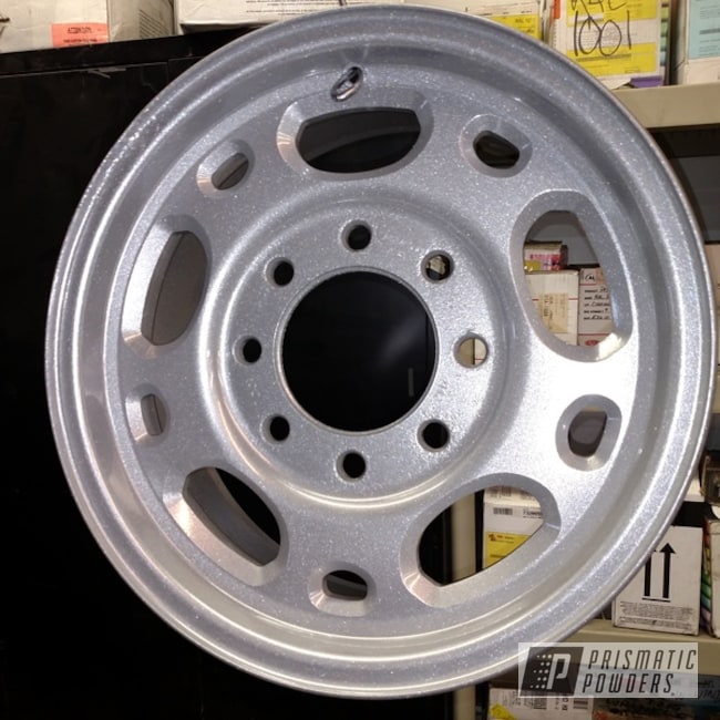 Powder Coating: Wheels,Automotive,SUPER CHROME USS-4482,Custom Automotive Parts,Casper Clear PPS-4005