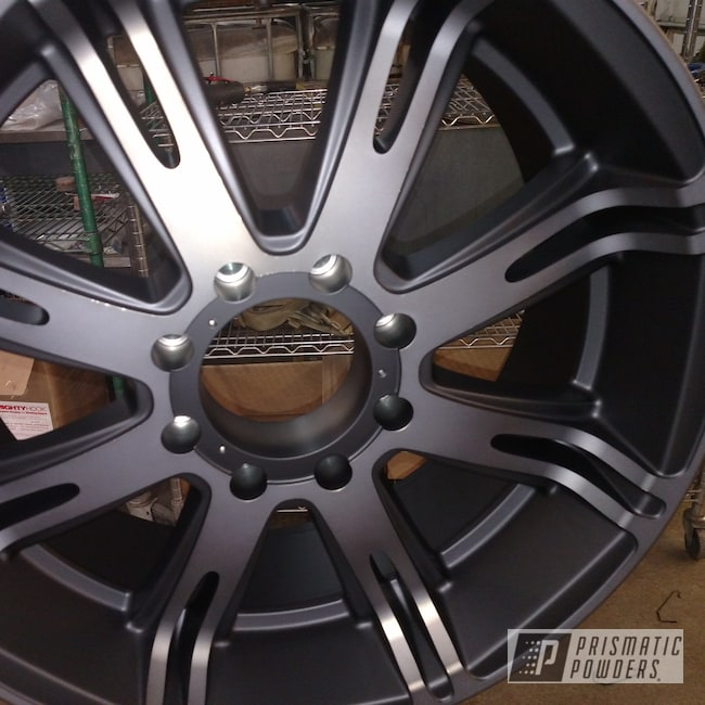 "Powder Coating: Wheels,Automotive,BLACK JACK USS-1522,20"",Flattop Black PPB-4858,20"" Wheels"