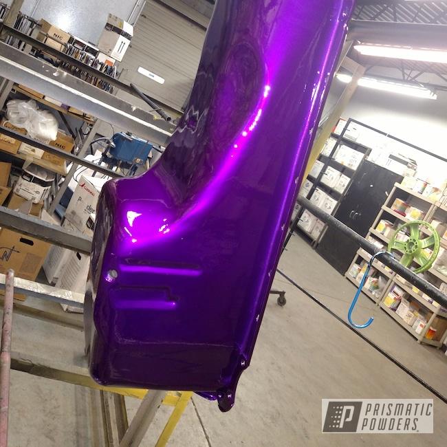 "Powder Coating: Wheels,Automotive,Clear Vision PPS-2974,2 Color Application,Oil Pan,20"" Aluminum Wheels,Illusion Violet PSS-4514"