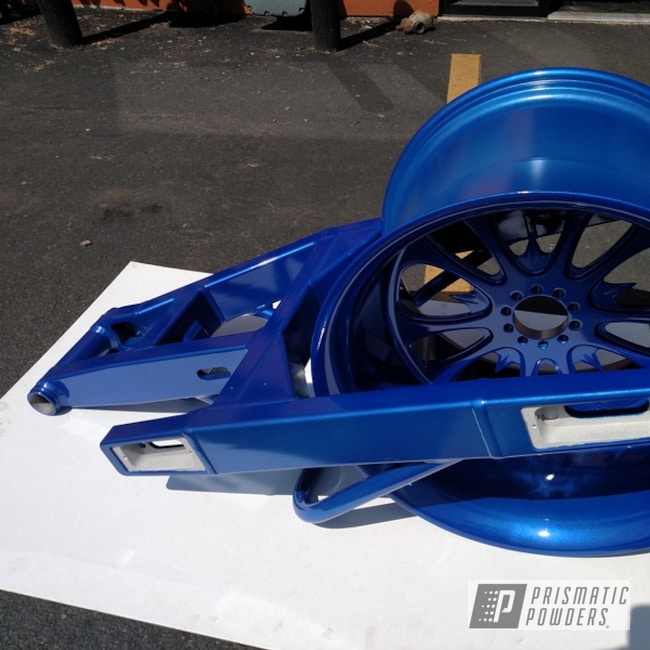 Powder Coating: Wheels,Clear Vision PPS-2974,Swing Arm,Motorcycle Parts,Illusion Lite Blue PMS-4621,Motorcycles