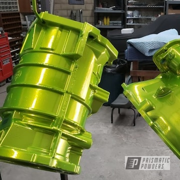 Powder Coated Neon Yellow Truck Transmission
