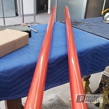 Powder Coated Orange Truck Traction Bars