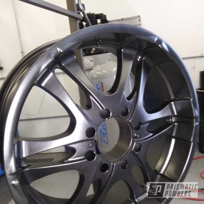 "Powder Coating: Wheels,Automotive,Graphite Charcoal PMB-5458,22"" Wheels,22"""