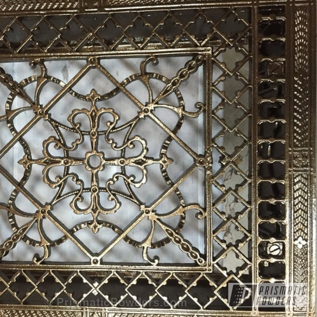 Powder Coating: Floor Grates,Bronze Chrome PMB-4124,Custom Powder Coating,Heater Grille,Miscellaneous
