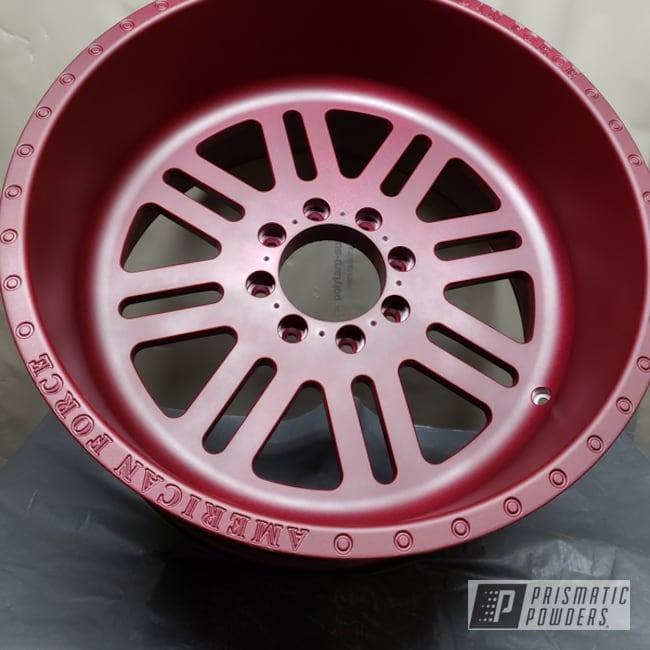 "Powder Coating: Wheels,American Force Wheels,22"" Wheels,Illusion Cherry PMB-6905,Matte Finish,Casper Clear PPS-4005,American Force"