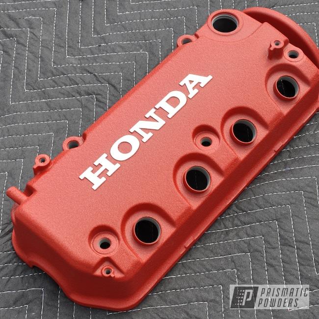 Powder Coating: Automotive,Honda Valve Cover,Honda,Desert Red Wrinkle PWS-2762,Valve Cover