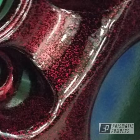 Powder Coating: Custom Rims,Disco Red PPB-7044,Ink Black PSS-0106