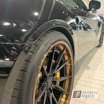 Powder Coated 3 Piece Split Rim Adv1 Wheels For A Ferrari F12 Berlinetta