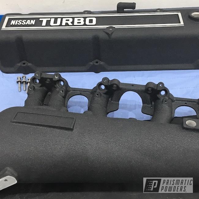 Powder Coating: Custom Engine Covers,Rocker Covers,Splatter Black PWS-4344,Automotive,Nissan,Datsun,280Z