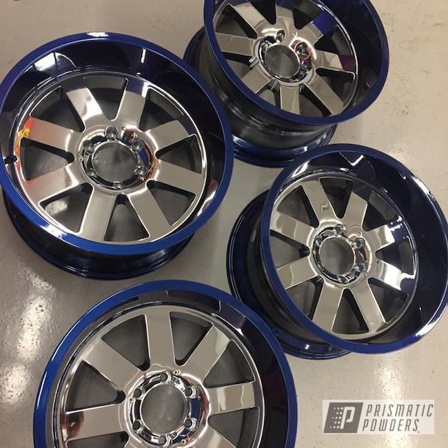 Powder Coating: Booty Blue PPB-2757,Wheels,Automotive