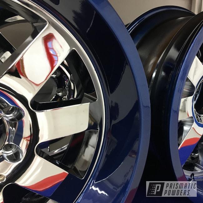 Powder Coating: Booty Blue PPB-2757,Wheels,Automotive