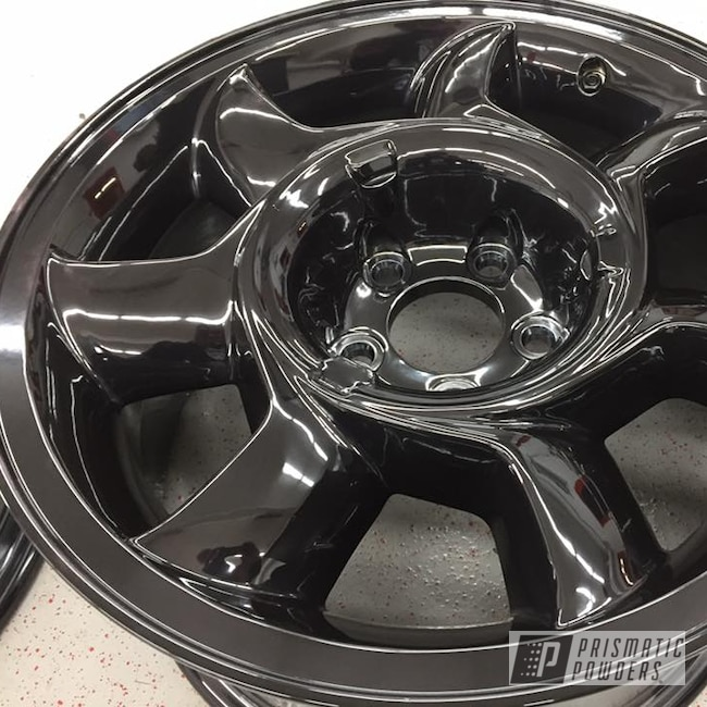 Powder Coating: Wheels,Black Chrome II PPB-4623,Automotive,Mustang Wheels,Ford Mustang,Ford