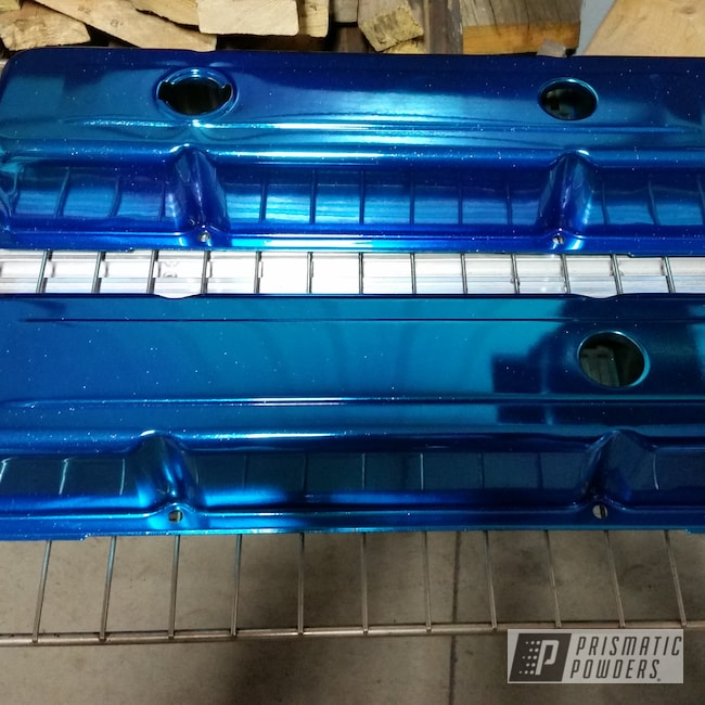 Powder Coating: Automotive,Galaxy Blue PPB-4651,Valve Covers,Chevy,Corvette