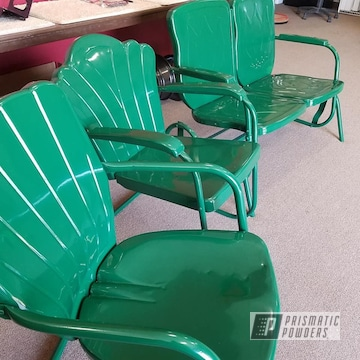 Powder Coated Set Of Vintage Chairs