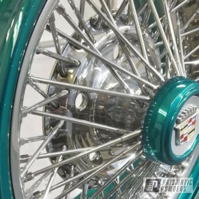 Powder Coating: AQUA CLEAR UPS-1680,Wheels,Automotive,Custom Rims,SUPER CHROME USS-4482,Cadillac