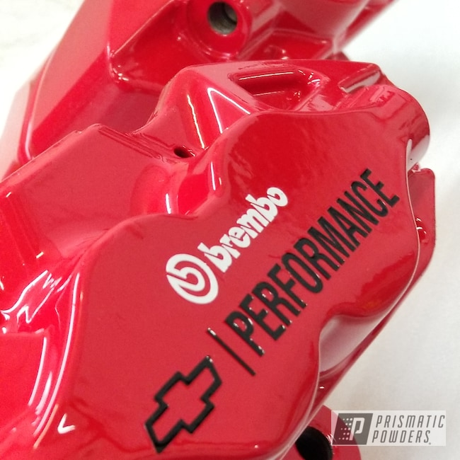 Powder Coating: Passion Red PSS-4783,Brakes,Brembo Calipers,Chevy
