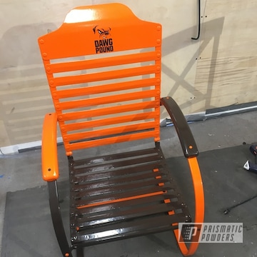 Powder Coated Cleveland Browns Themed Lawn Chair