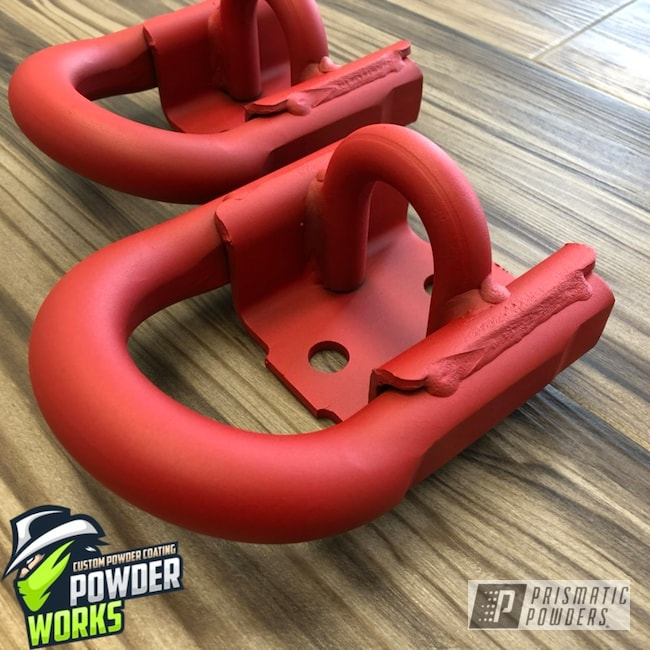 Powder Coating: Automotive,D Ring,Burnt Red Texture PTS-6422