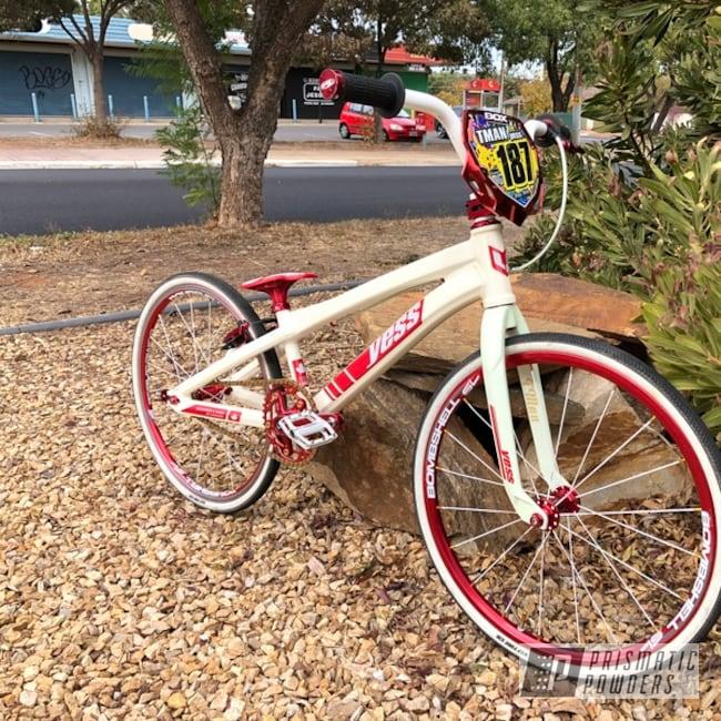 Powder Coating: Bicycles,Type X,Glow in the Dark Powder Coat,Glow in the dark BMX,Glow in the Dark,YESS,Gloss White PSS-5690,BMX,Race Bike,Glowbee Clear PPB-4617