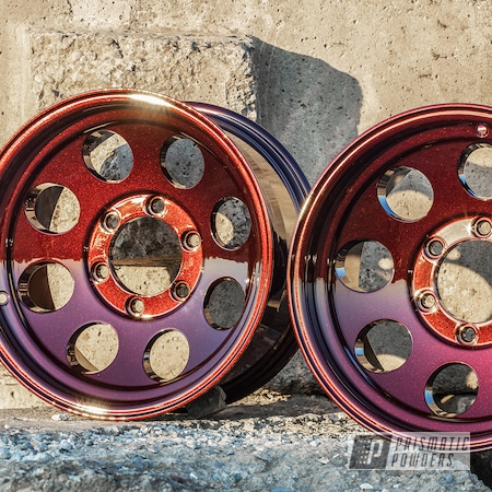 Powder Coating: Wheels,Automotive,DRAGONS BLOOD STEP 1 PMB-8056,DRAGONS BLOOD STEP 2 PPB-8057