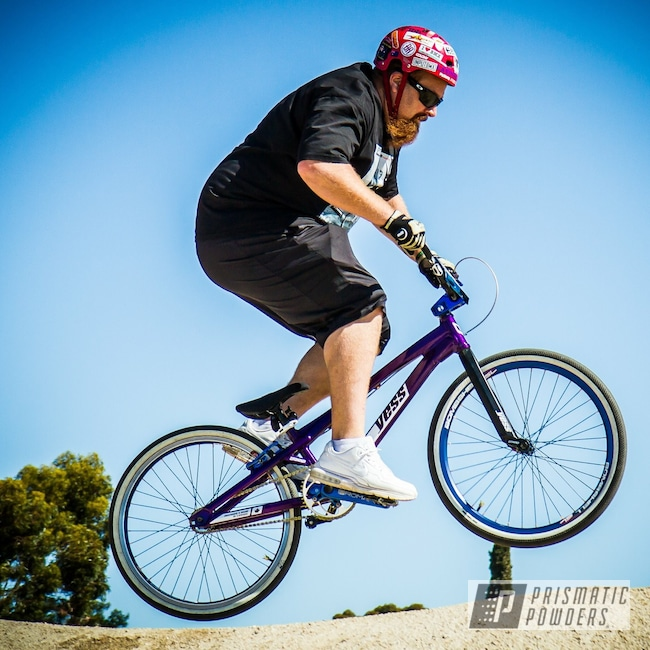 "Powder Coating: Illusion Purple PSB-4629,Bicycles,Type X,Racebike,Cruiser,YESS,BMX,24"",Chameleon Sapphire Teal PPB-5732"