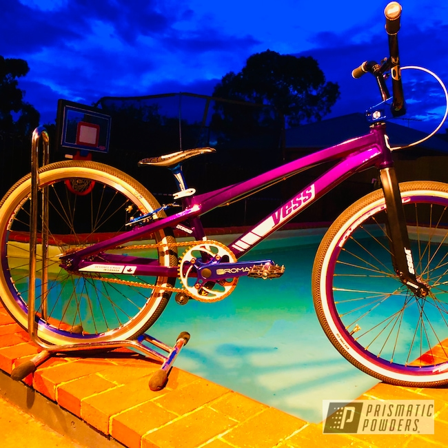 "Powder Coating: Illusion Purple PSB-4629,Bicycles,Type X,Racebike,Cruiser,YESS,BMX,24"",Chameleon Sapphire Teal PPB-5732"