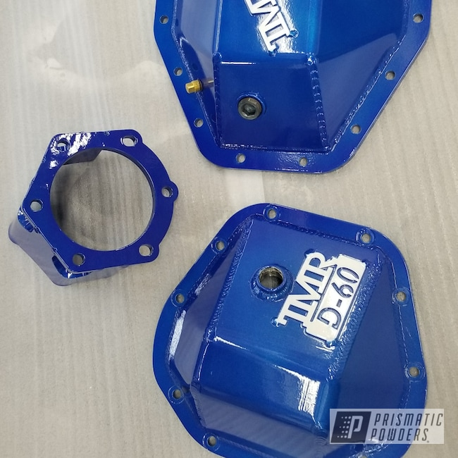 Powder Coating: Automotive,Clear Vision PPS-2974,diff cover,Illusion Blueberry PMB-6908,Differential Cover,Pearl Sparkle PMB-4130