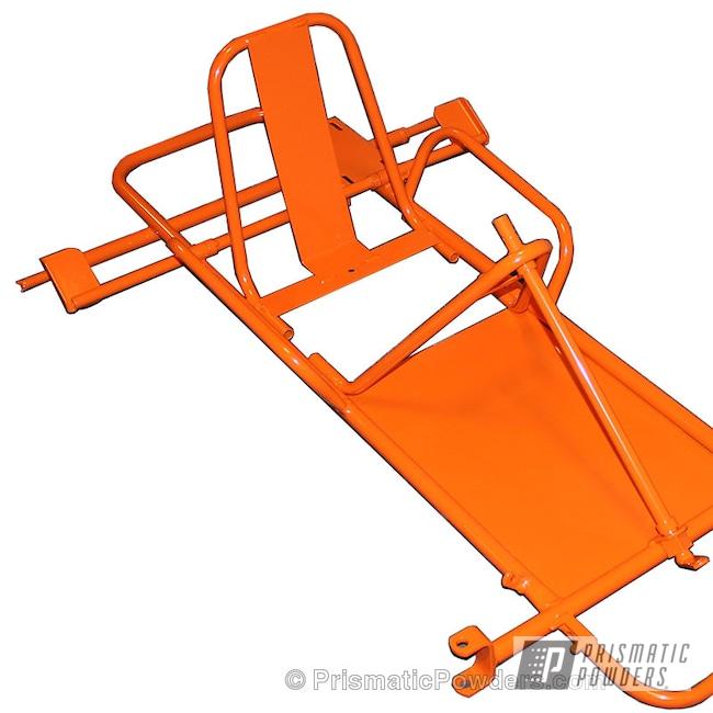 Powder Coating: Go Kart Frame,M&M ORANGE PSS-5678,Miscellaneous
