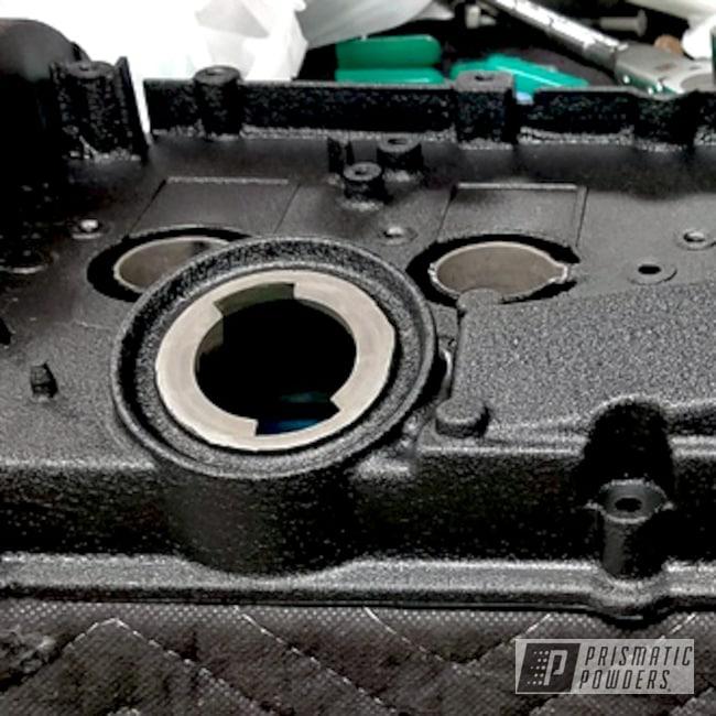 Powder Coating: Automotive,Volkswagen,Custom Powder Coated Engine Parts,Engine Components,8T Intake and Valve Cover,Desert Nite Black PWS-2859,Valve Cover,VW 1