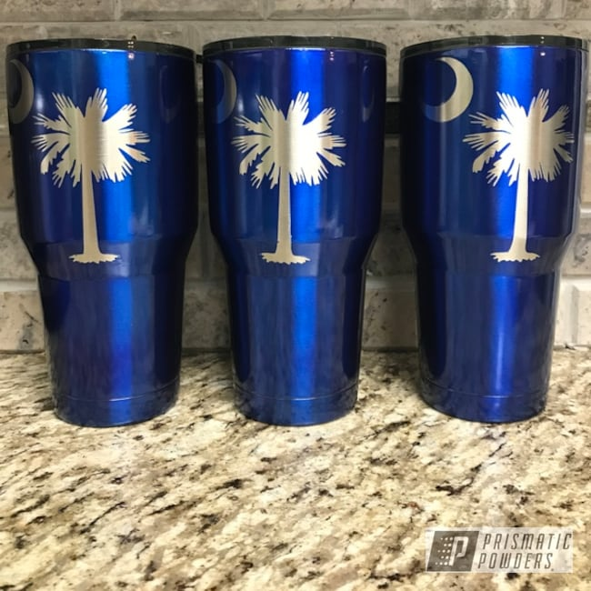 Powder Coating: Cheater Blue PPB-6815,Tumbler,Carolina,30oz,30oz Tumbler,Custom Tumbler Cups,Ozark Trail