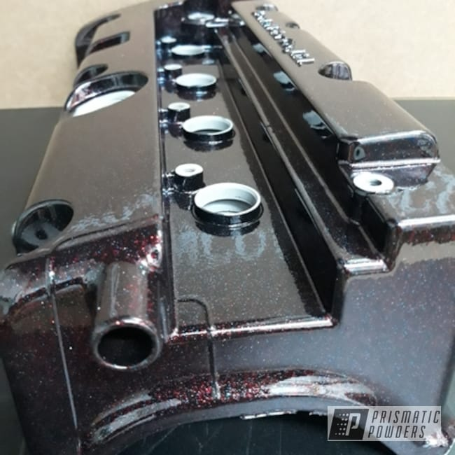 Powder Coating: Clear American Sparkle PPB-5932,Automotive,Valve Cover