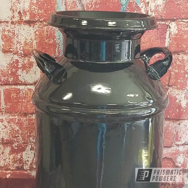 Powder Coating: Antique,Cream Can,Milk Can,Ink Black PSS-0106,Vintage,Miscellaneous