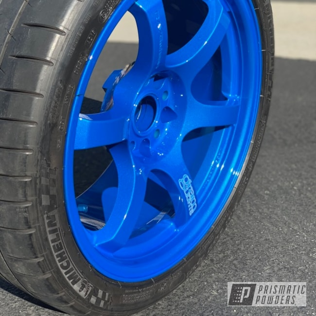 Powder Coating: Wheels,Auto Parts,Automotive,Clear Vision PPS-2974,RAYS Wheels,Rayswheels,Illusion Lite Blue PMS-4621,57dr,Rays Engineering,Gram Lights,57d