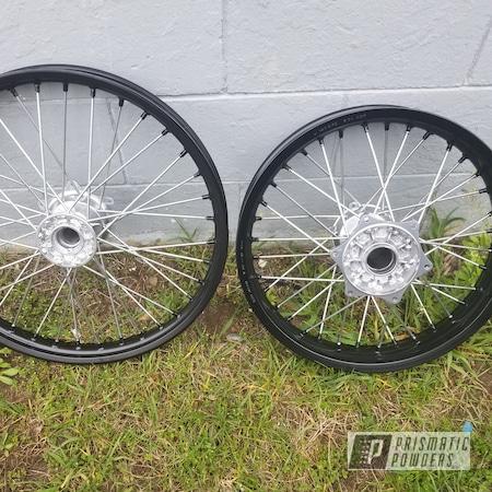Powder Coating: Wheels,Matte Black PSS-4455,KTM,SUPER CHROME USS-4482,Motorcycle Wheels,300,Motorcycles,Dirtbike,exc