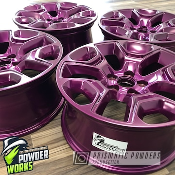 Custom Set Of Powder Coated Wheels