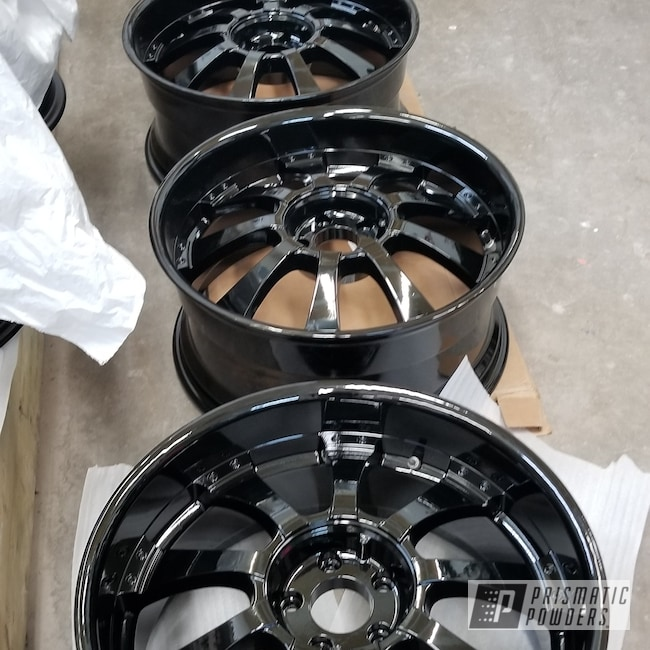 Powder Coating: Wheels,Automotive,Land Rover,Sable Black Jade PMB-1620,Land Rover Rims