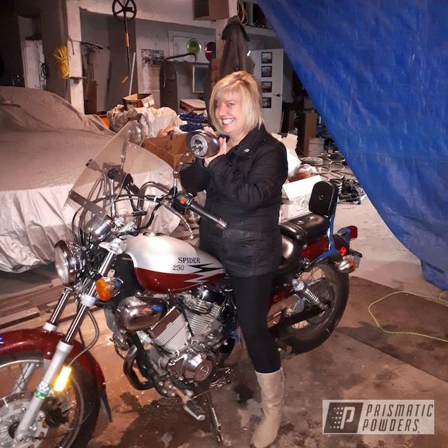 "Powder Coating: Wicked 4' 11"",Illusion Orange Cherry PMB-5509,250,Clear Vision PPS-2974,Powder Coated Motorcycle Bobber,GLOSS BLACK USS-2603,Orange Sherbert Sparkle PPB-8042,Bobber,Motorcycles,Silk Satin Black HSS-1336,Custom Motorcycle Build"
