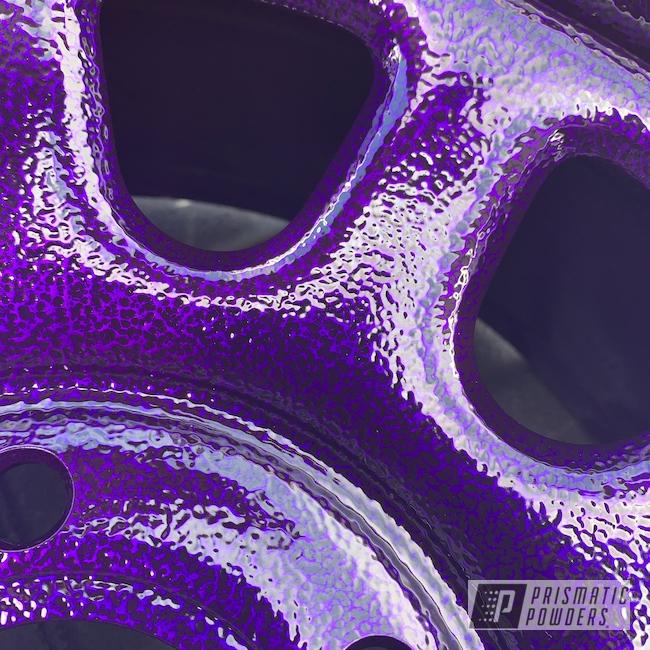 """Powder Coating: Wheels,Automotive,15"""",Black Frost PVS-3083,Lollypop Purple PPS-1505,Purple wheels"""