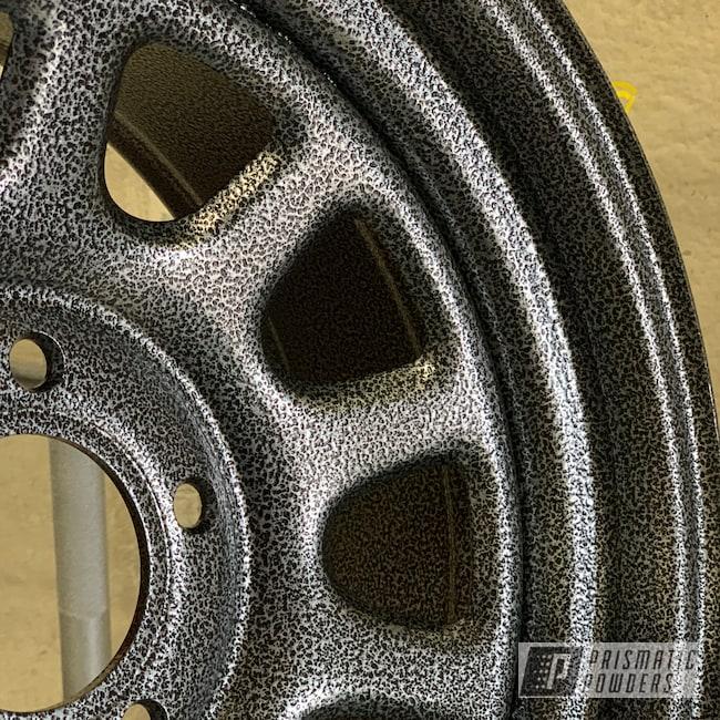 "Powder Coating: Wheels,Automotive,15"",Textured Finish,Black Frost PVS-3083,Textured"