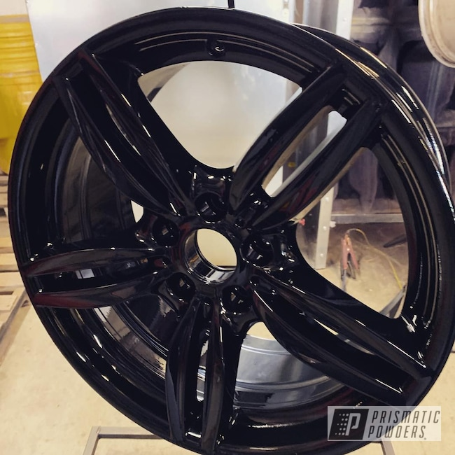 "Powder Coating: Wheels,Automotive,20"" Wheels,Ink Black PSS-0106,BMW,20"""