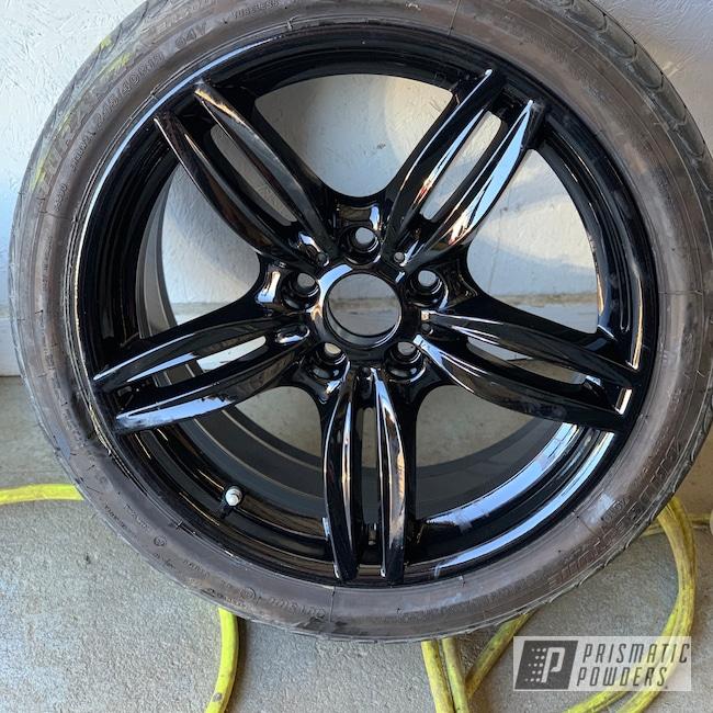 "Powder Coating: Wheels,Automotive,20"" Wheels,Ink Black PSS-0106,BMW,20"""