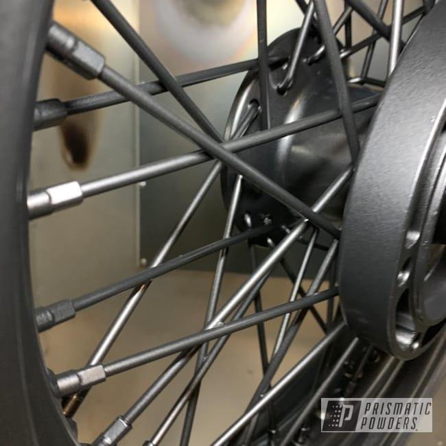 "Powder Coating: Wheels,Matte Black PSS-4455,17"" Wheels,Motorcycles"