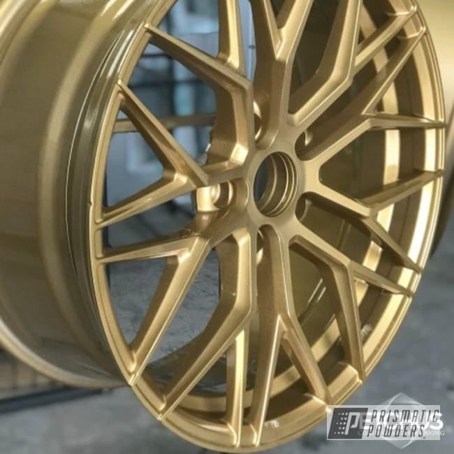 "Powder Coating: Wheels,Automotive,20"" Wheels,Porsche,20"",Spanish Gold EMS-0940,911"