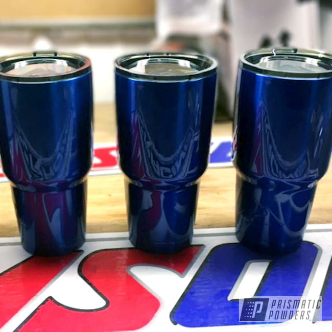 Powder Coating: Tumbler,SUPER CHROME USS-4482,chrome,Custom Powder Coated Tumbler Cups,Tumblers,Intense Blue PPB-4474,Miscellaneous