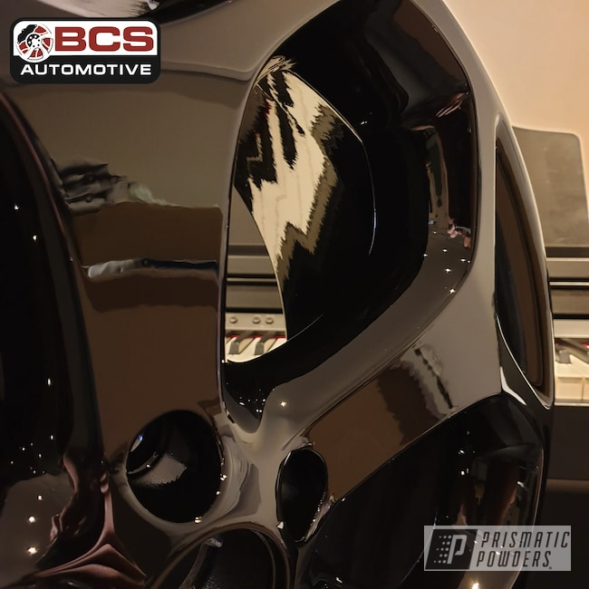 "Powder Coating: Wheels,Automotive,Alloy Wheels,Focus ST,18"",Ink Black PSS-0106,18"" Wheels,Ford Focus ST,Ford,Gloss Black"