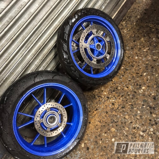 """Powder Coating: Wheels,Clear Vision PPS-2974,17"""" Wheels,Illusion Blueberry PMB-6908,Motorcycles"""