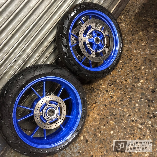 "Powder Coating: Wheels,Clear Vision PPS-2974,17"" Wheels,Illusion Blueberry PMB-6908,Motorcycles"