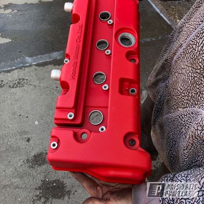Powder Coating: Wheels,Automotive,Honda,Casper Clear PPS-4005,Astatic Red PSS-1738,Valve Cover